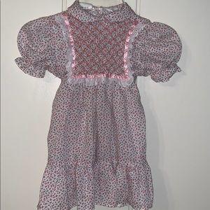 Vtg Polly Flinders dress with smocked bodice